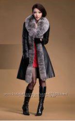 Распродажа Натуральные мех и кожа Теплое пальто