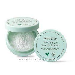 Минеральная рассыпчатая пудра от жирности Innisfree No-Sebum Mineral Powder