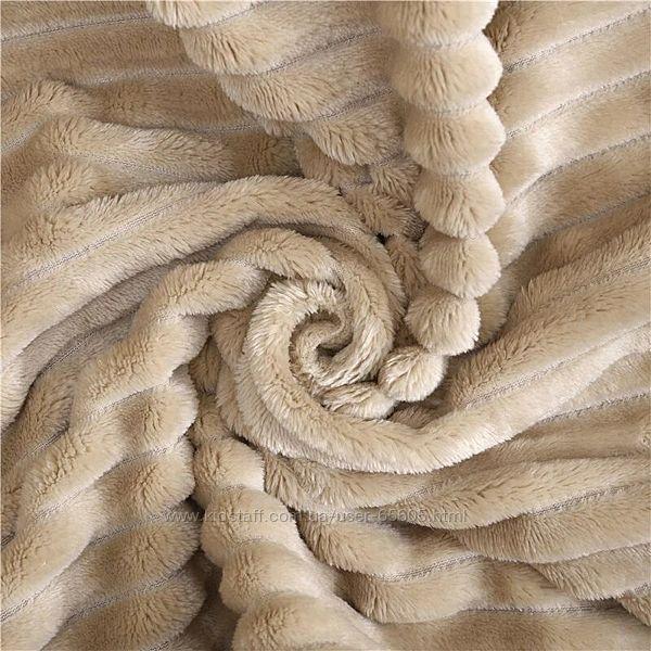 Бамбуковое евро покрывало плед в полоску шарпей
