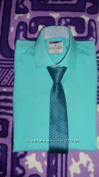 Яркая рубашка Louis Fabel бирюзового цвета