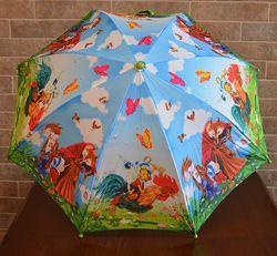 Дитяча парасолька автомат. Казка Буратіно. Zest