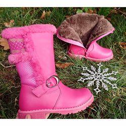 Зимові чоботи для дівчаток ТМ Сalorie-розпродаж