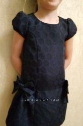 Нарядное с блеском синее платье Gymboree праздничное платье 4-5 лет