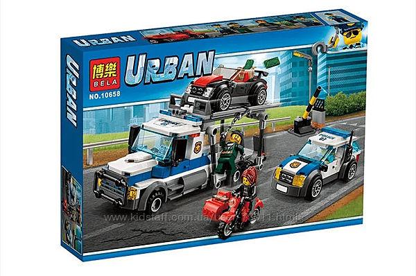 Конструктор Bela Urban Ограбление трейлера автовоза арт. 10658
