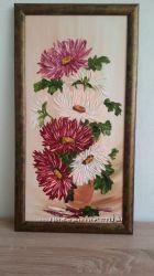 Картина маслом Хризантемы автор Качковская Л. К. Ялта, 2009.