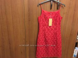Новое ярко красное платье-сарафан, Англия