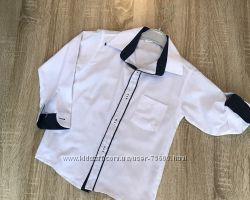 Белая школьная рубашка трансформер для мальчика. Турция