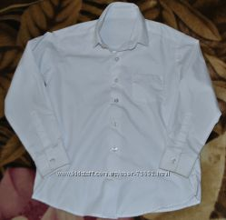 Белая рубашка Тм GEORGE 7-8 лет Указаны замеры