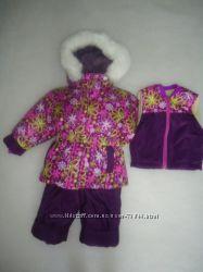 Куртки та комбінезони демі, зима 74-140 розміри.