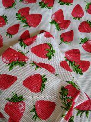 Вафельное полотно для кухонных полотенец