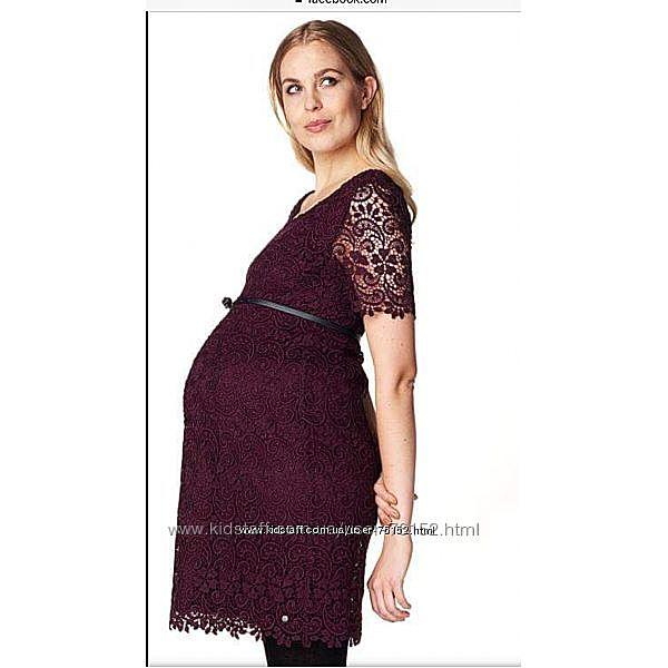 Шикарное кружевное платье для будущей мамы Esprit. Дорогая коллекция. Акция.