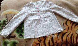 Легкая блузка на девочку хлопок б. у. рост 110-116