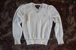 Стильный котоновый свитерок Ralph Lauren для девочки 4-5 и 5-6 лет