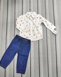 Комплект на годик рубашка и джинсы
