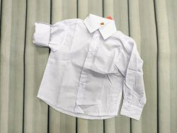 Белая рубашка для мальчика на годик