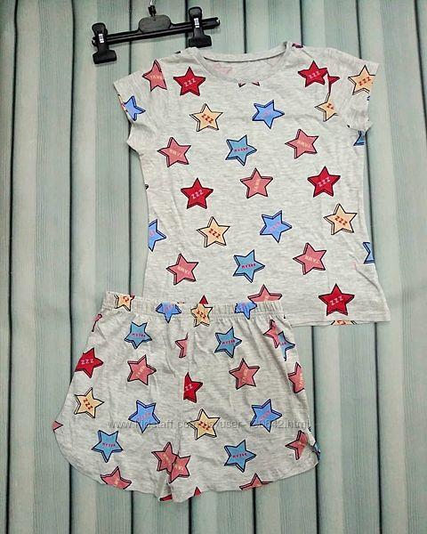 Пижама для девочки с шортами летняя