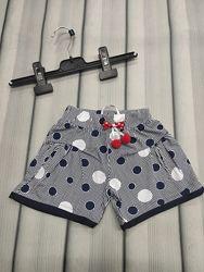 Легкие шортики для девочки. шорты в горошек