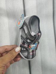 Босоножки в садик тканевые сандали в садик
