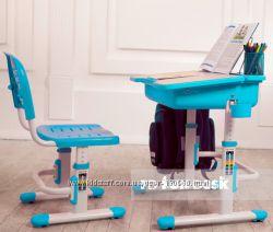 Парта со стулом FunDesk Capri Blue для ребенка от 3-х лет. Доставка 0