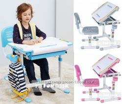 Комплекты парта и стул FunDesk  - для дома и школы НУШ. Доставка бесплатно