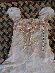 Вечернее платье  с нежной вышивкой