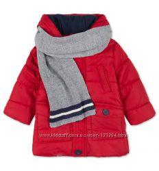 Новая удиненная куртка с шарфом на рост 80-86см фирмы Baby Club C&А
