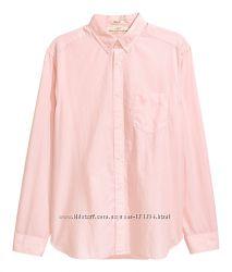 Новая хлопковая рубашка р. M и р. L фирмы H&M