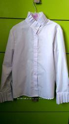 Белые школьные блузочки р. 128