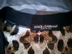 леопардовая майка D&G
