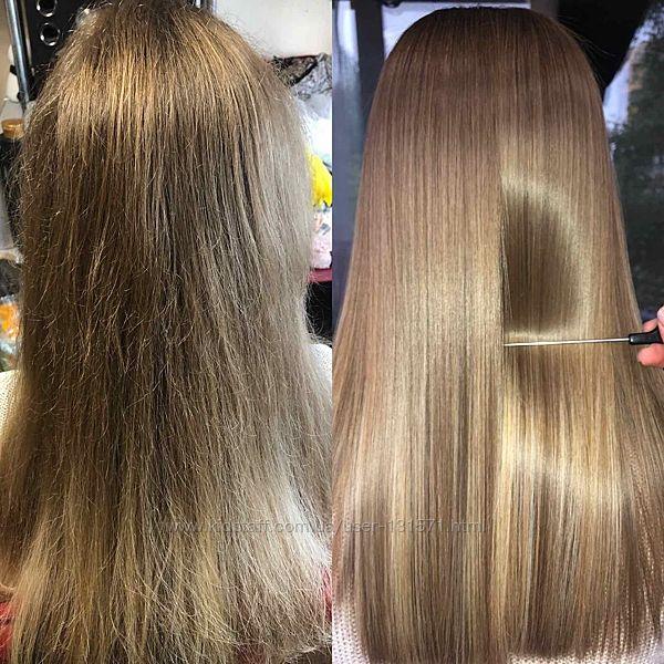Кератиновое выпрямление волос  маникюр в подарок