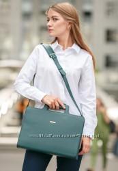 Женская кожаная сумка для ноутбука и документов