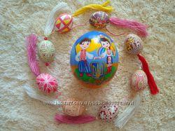 Яйцо расписаное страусиное