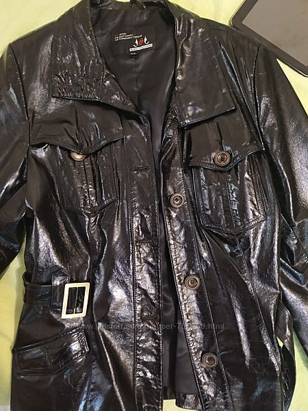 Пиджак кожа 3XL
