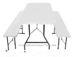 Стол стіл складной туристический 180 см  2 скамейки. Польша. Ar.