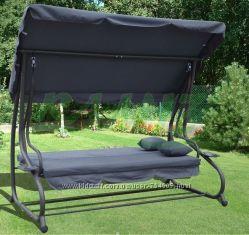 Садовая качель - диван 4-х местная. Раскладывается  2 подушки. 3 цвета.