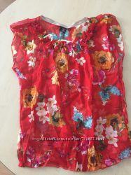 Легкая шифоновая блуза 46разм