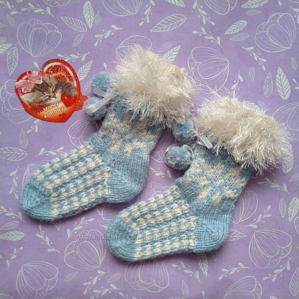Вязанные детские носочки
