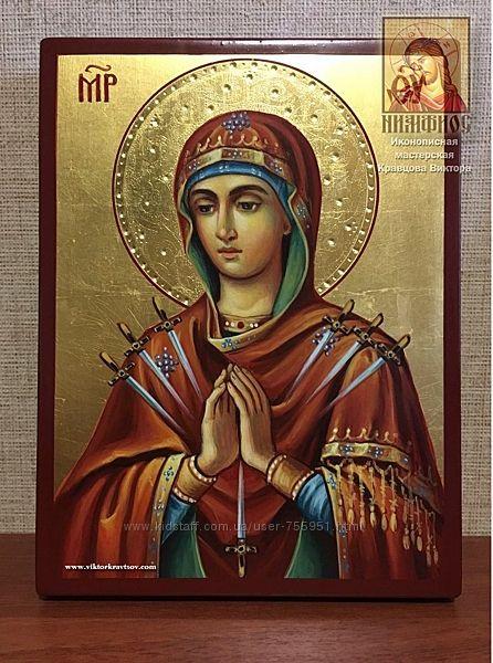 Икона Божией Матери Умягчение злых сердец рукописная в наличии