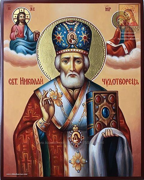 Св. Николай Угодник - рукописная икона в наличии