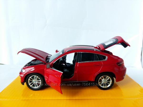 Коллекционная машинка металл джип BMW X6 БМВ 124 свет, звук Автопром