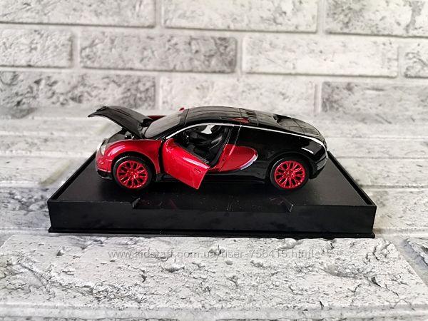 Новинка Металлические машинки Bugatti Veyron Бугатти Вейрон свет звук