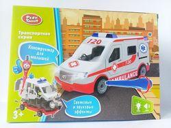 Конструктор на шурупах &laquoСкорая помощь», Полиция, Аварийка 1374 Play smart
