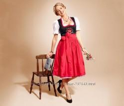 женское платье dirndl с блузкой и фартуком tcm tchibo германия 48европ
