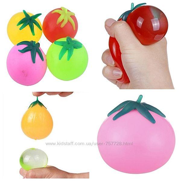 Игрушка прикол Овощи-фрукты расплавляющийся, липкий лизун антистресс