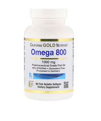 California Gold Nutrition омега-3 800 мг, 90 капсул, большая упаковка