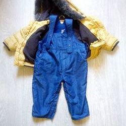 Куртка и полукомбинезон на малыша