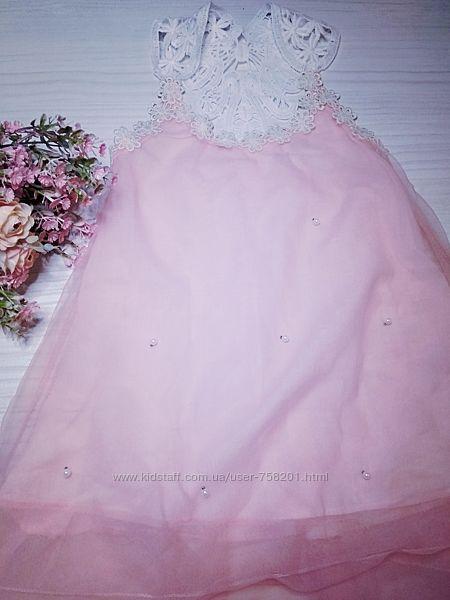 Платье кружевное фатиновое