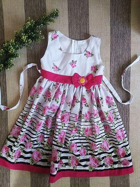 Платье в цветах, сукня