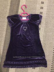Платье фиолетовое бархатное next