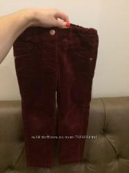 Бордовые штанишки новые без бирки с бантиком 3-4 года вельвет